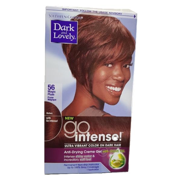 Dark and Lovely go intense ultra vibrant color on dark hair